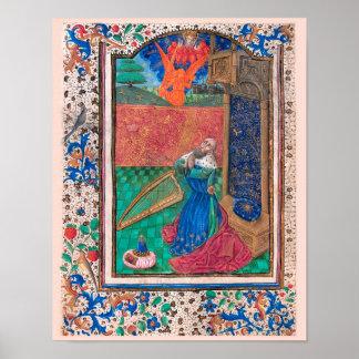 Illuminated Manuscript Book of Hours SR001-6 Posters