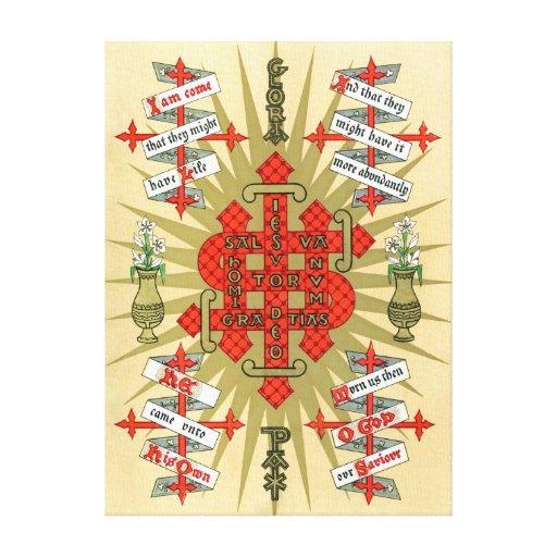 Illuminated Manuscript Christmas. Stretched Canvas Print