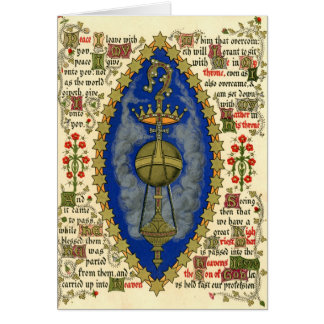 Illuminated Manuscript for Ascension Day Greeting Card