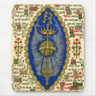 Illuminated Manuscript for Ascension Day Mouse Pad