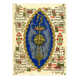 Illuminated Manuscript for Ascension Day Postcard