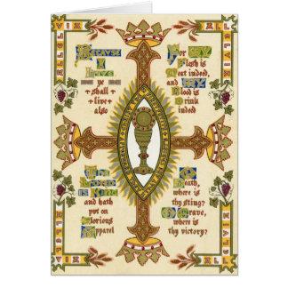 Illuminated Manuscript for Easter. Greeting Card
