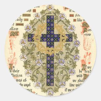 Illuminated Manuscript for Septuagesima and Lent Classic Round Sticker