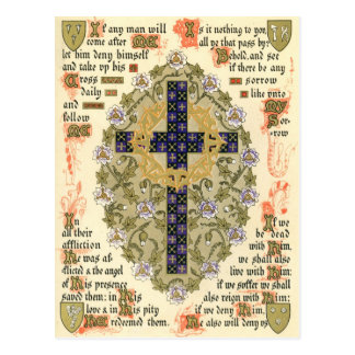 Illuminated Manuscript for Septuagesima and Lent Postcard