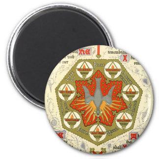 Illuminated Manuscript for Whitsuntide 2 Inch Round Magnet