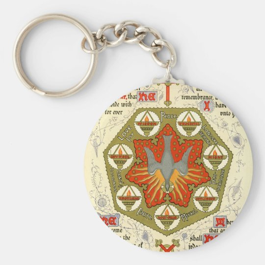 Illuminated Manuscript for Whitsuntide Keychain