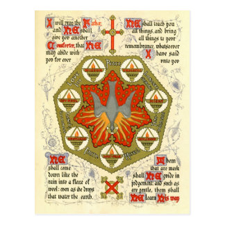 Illuminated Manuscript for Whitsuntide Postcard
