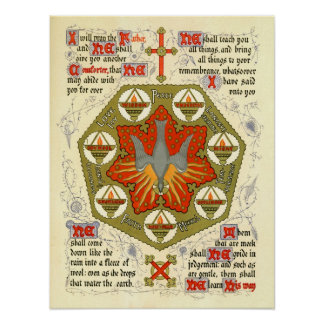 Illuminated Manuscript for Whitsuntide Posters