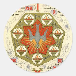 Illuminated Manuscript for Whitsuntide Sticker