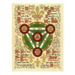 Illuminated Manuscript of the Holy Trinity Post Cards
