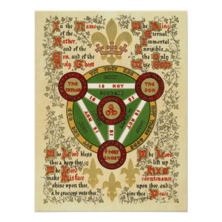 Illuminated Manuscript of the Holy Trinity Poster
