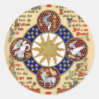 Illuminated Manuscript the Epiphany Classic Round Sticker