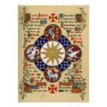 Illuminated Manuscript the Epiphany Poster