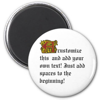Illuminated Manuscript with A 2 Inch Round Magnet