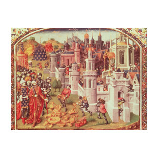 Illuminated miniature from a universal canvas print