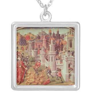 Illuminated miniature from a universal silver plated necklace