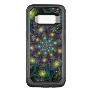 Illuminated modern blue purple Fractal Pattern OtterBox Commuter Samsung Galaxy S8 Case