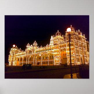 Illuminated Mysore Palace Poster