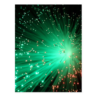 Illuminated Optical Fibers Postcard