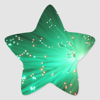 Illuminated Optical Fibers Star Sticker
