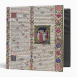 Illuminated page from the Book of Psalms Binders