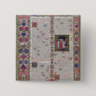 Illuminated page from the Book of Psalms Button