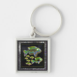 Illuminated Reflection : Fish in Flood Light Keychain
