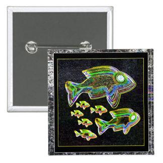 Illuminated Reflection : Fish in Flood Light Pinback Button