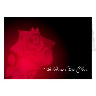 Illuminated Rose Card