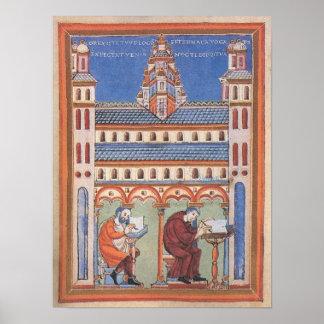 Illuminated Saint Page Poster