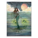 """""""Illuminated Sea"""" Mermaid Greeting Card"""