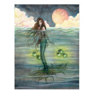 """""""Illuminated Sea"""" Mermaid Postcard"""