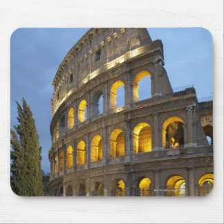 Illuminated section of the Colosseum at dusk. Mouse Pad