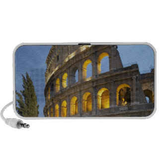 Illuminated section of the Colosseum at dusk. Portable Speakers