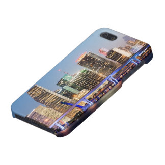 Illuminated skyline of downtown Miami at dusk iPhone 5 Cases