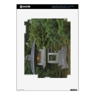 Illuminated stone lantern in Japanese Garden Skin For iPad 3