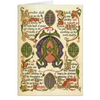 Illuminated symbol depicting festival of Advent Greeting Card