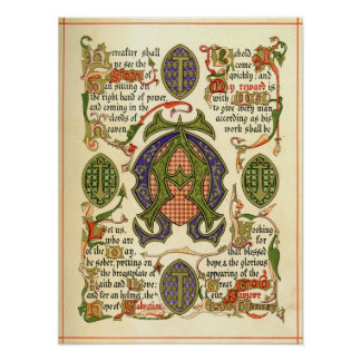 Illuminated symbol depicting festival of Advent. Poster