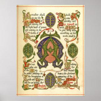Illuminated symbol depicting festival of Advent. Print