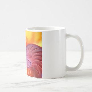 Illuminated Translucent Nautilus Shell With Spiral Coffee Mug