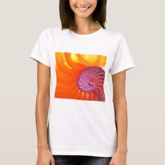 Illuminated Translucent Nautilus Shell With Spiral T-Shirt