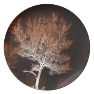 Illuminated Tree Melamine Plate