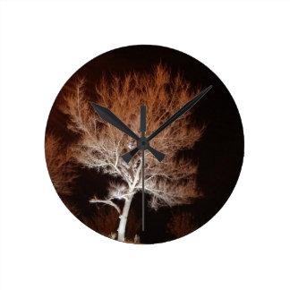 Illuminated Tree Round Clock