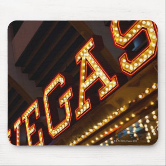 Illuminated Vegas sign Mouse Pad