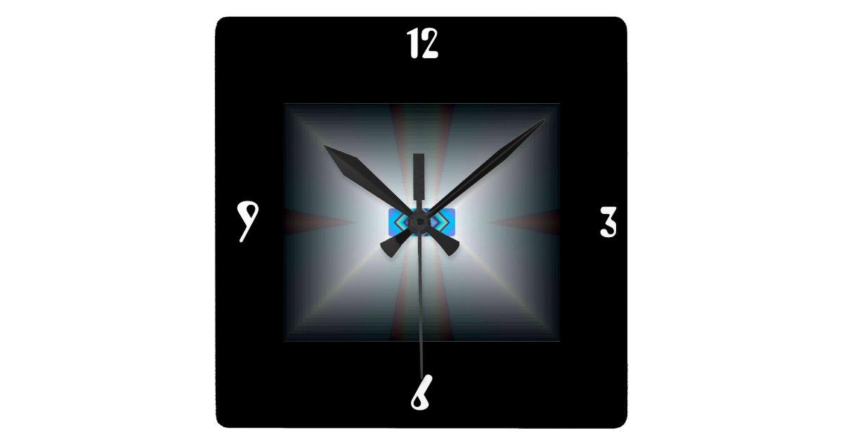 Illuminated White Black Artistic Wall Clocks Zazzle
