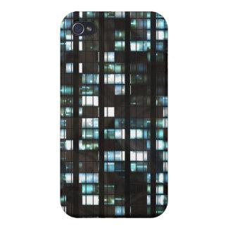 Illuminated windows pattern iPhone 4 cover