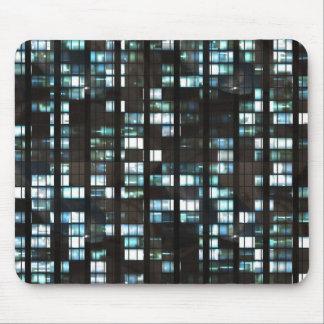 Illuminated windows pattern mouse pad