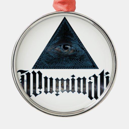 Illuminati Adorno Redondo Plateado
