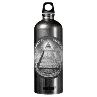 Illuminati All Seeing Eye Aluminum Water Bottle