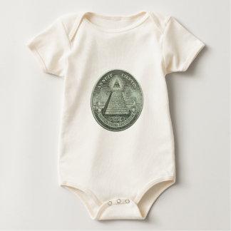 Illuminati - All seeing eye Baby Bodysuit